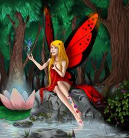 Fairy bathing by CyciTheConqueror