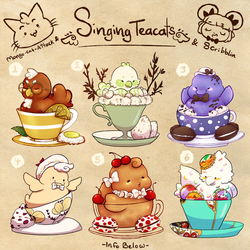 Macaroon/Macaron singing tea batch [closed] by scribblin