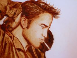Rob and his cig by LittleSeaSparrow