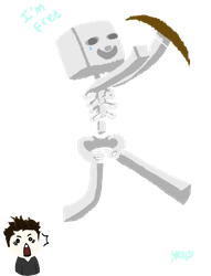 CaptainSparklez and the mysterious flying Skeleton by sorou98