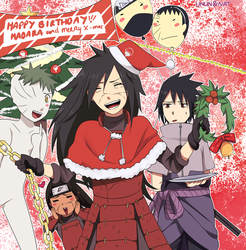 Merry Christmas and Happy B-day Madara by nattouh