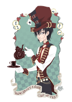 +art trade+ X-Down Mad Hatter by JackPot-84