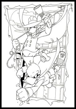 'Quack Attack' final inks by SURFACEART
