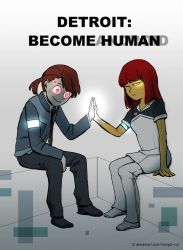 Undertale x Detroit: Become Human by Triangle-cat