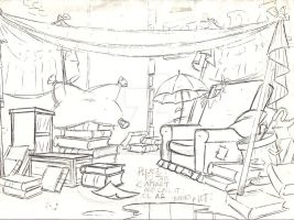 Background - pencil by CARUTOONS
