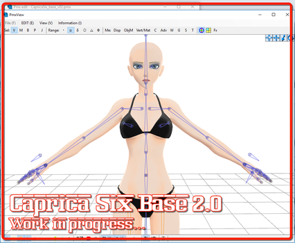 [MMD] Caprica Six Base v2.0 wip *RELEASED* by Riveda1972