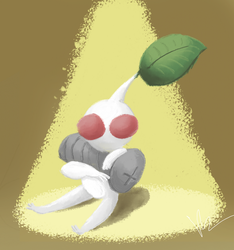 White Pikmin by KylaR-lapidotshipper