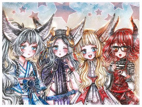 Watercolor BnS commission by Inntary