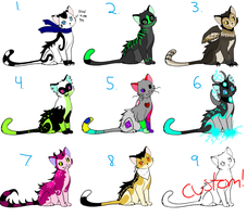 Cat adopts (OPEN) by Ink--Beast