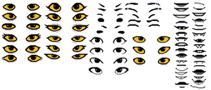 Homestuck facial sprites by iLee-Font