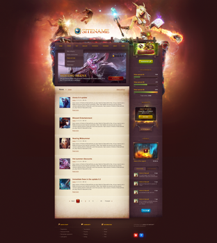 Game Portal Website Template by DKartsStudio