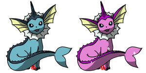 Pokemon #134 - Vaporeon by Fyreglyphs