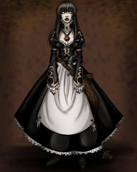 Witch with Creepy Eyeballs by akain