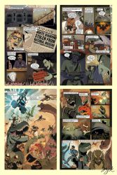Axe Cop Issue 2 -Color Preview by Themrock
