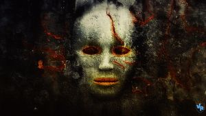 Scary face from wall by Vreckovka