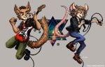 Aazim and Noomi - Rocking Out by TheLivingShadow