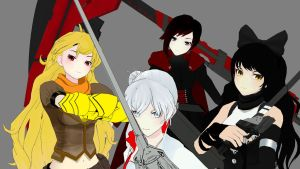 Team Rwby pose by jeganreiz