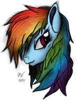 Rainbow Dash Commission by AncientOwl