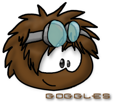 Goggles the brown puffle by Magdaneela