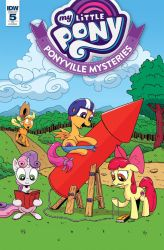 My Little Pony: Ponyville Mysteries #5 RI Cover by Pony-Berserker