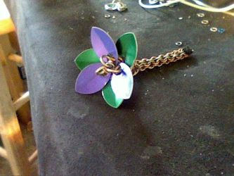 Scale flower with chain stem by DracoLumina