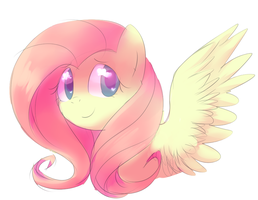 Fluttershy Headshot by Feather-o-FLO