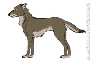 Young Wolfdog by Tephra76