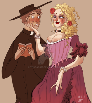 Sally and rev Tibbs by ToscaSam