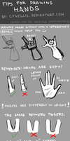 TIPS FOR DRAWING HANDS by cynellis