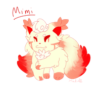 Mimi The Two Tailed Fox Cat Dog by MyDoggyCatMadi
