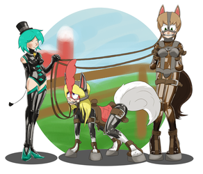 Giddy up! (L8txbrb2 commission) by HelixJack
