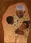 Nelson Mandela with Children by Sommeling