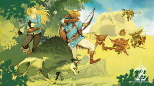 Breath Of The Wild-Fighting the Bokoblin by HeavyMetalHanzo