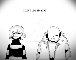 Undertale [I love you so, vivi] + SPEEDPAINT by KiddoDrawsOficial