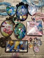 OPEN - Trade/Exchange! Trading Card Glass Charms by BlackManaBurning