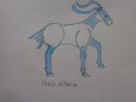Horse Altaria by woodywoodwood