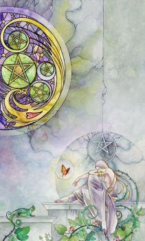 Five of Pentacles by puimun