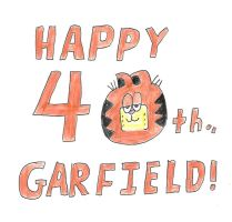 Happy 40th Garfield by dth1971