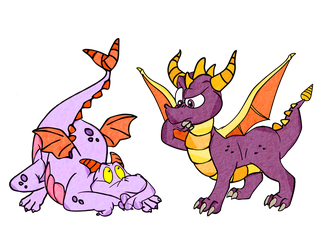 Two Purple Dragons by Generalorder4