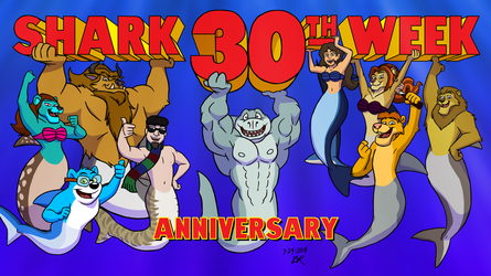 Shark Week 30th Anniversary by RetroUniverseArt