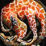 Squished Giraffe by MuralsWithoutBorders