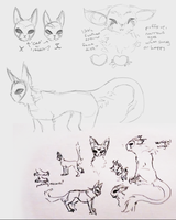 some sketchies by silverheart-nine