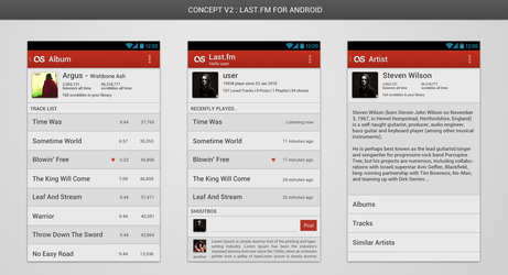 Last.fm For Android : A Concept v2 by ana10gx