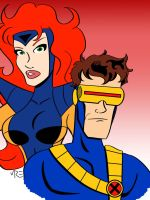 Cyclops and Jean Grey by MCRE1201