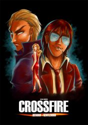 Crossfire (Postcard) by Fidjie