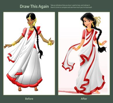 Draw This Again: A Beautiful Bengali Woman by ArsalanKhanArtist