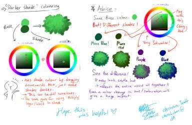 Shading Colour choice Tutorial by cherubchan