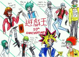 YGO 10th Anniversary by thingy-me-jellyfis