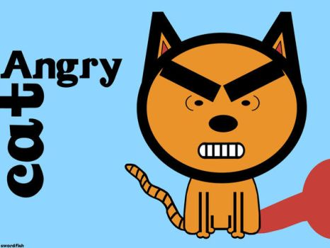 Angry Cat Wallpaper by swordfishll