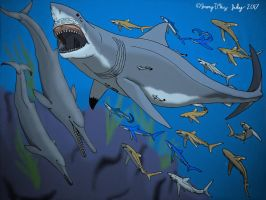 Megalodon et al- Color Rendition by Saberrex